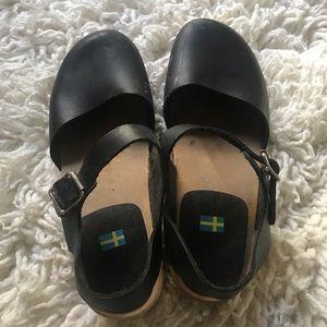 🇸🇪 MIA clogs black leather